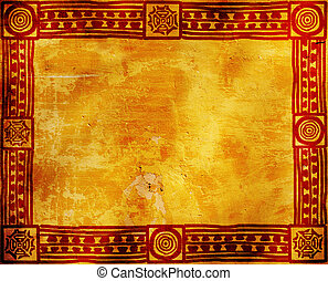 American Indian traditional patterns - Grunge background...