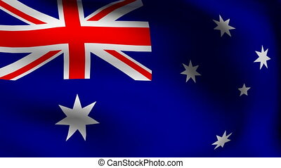 animation of australia flag