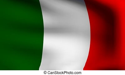 flag of italy in animation