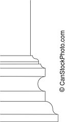 baroque column base scheme - baroque or late renaissance...
