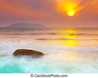 Sunrise over the sea Con Dao Vietnam