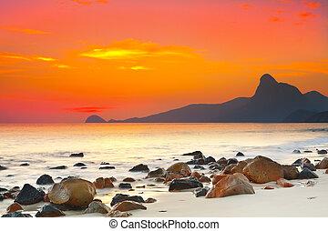 Sunset over the sea Con Dao Vietnam