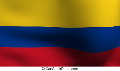 animation of flag of colombia