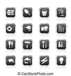 Construction and Building Icon Set Easy To Edit Vector Image...