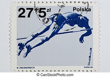 postage stamp dedicated to the sports category Poland