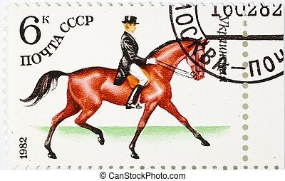 postage stamp dedicated to the sports category. Ukraine