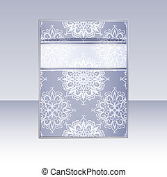 vector banner with snowflakes and place for your text