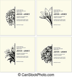 Vector Ornate Floral Half Frames Set. Easy to edit. Perfect...