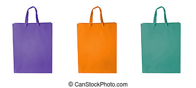 Shopping bag set in block colors - Cardboard block colors...