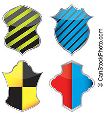 Collection of colorful shield