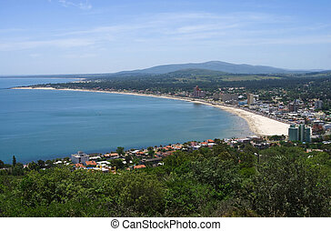 Panoramic view of seaside resort in Uruguay - Panoramic view...