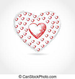 Red heart. Vector