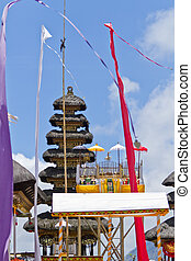 Pura Ulun Danu Batur - festive decoration of hindu temple...