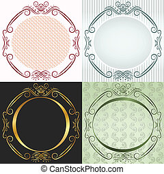 The round frame in antique style