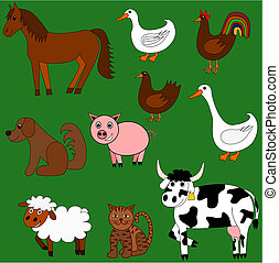 Cute farm animals - Illustration of cute farm animals