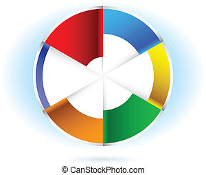 Pie chart - Abstract Pie chart. Illustration for design on...
