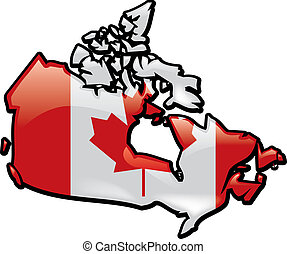 Canada - An artistic rentering of this country's map and...
