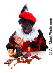 Sinterklaas, typical Dutch event with zwarte piet ( black...