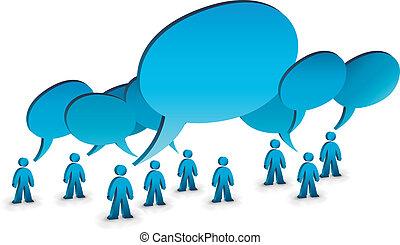 talking people - illustration of talking people