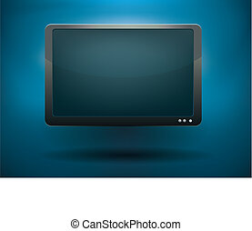 blank monitor - blank display vector illustration