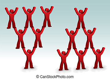 People helping each other - Symbol of people helping each...