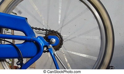 bike wheel - bicycle detail , spinning wheel