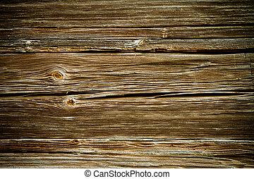 resistido, viejo, marrón, de madera, textura