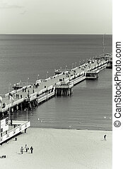 wooden pier in Sopot, Poland