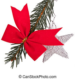 decorated Christmas tree branch - decorated christmas-tree...