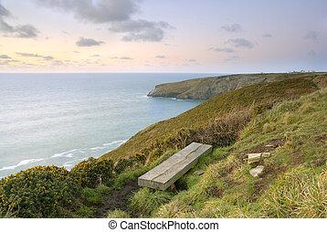 Cliff View Seascape, Cornwall, UK. - Cornish Seascape...