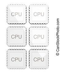 Six core CPU - 3D rendered Illustration. Six core CPU....
