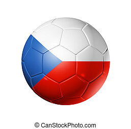 Soccer football ball with Czech Republic flag - 3D soccer...