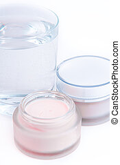 nourishing creams - revitalizing creams on white background