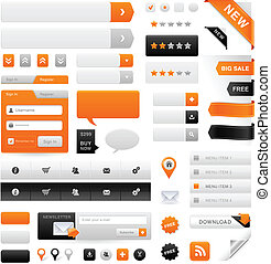 Website Graphics Set - Large set of icons, buttons and menus...