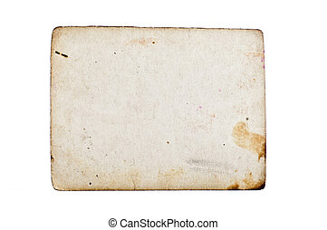 Grunge empty old paper isolated on white