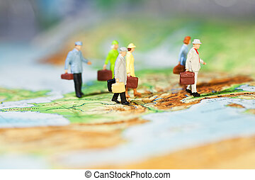 International Business Cooperation, a groupd of miniature...