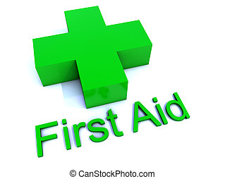 Green First Aid Cross