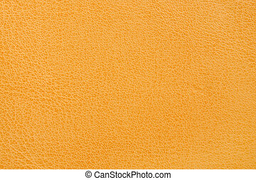 Yellow leather - Natural yellow leather background closeup