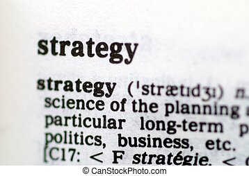 Part of a series of strategy based words