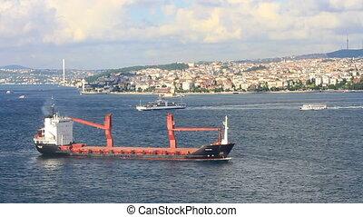 Cargo ship on route to Marmara Sea