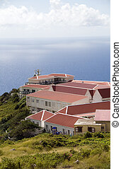 typical architecture houses Saba Dutch Netherlands Antilles...