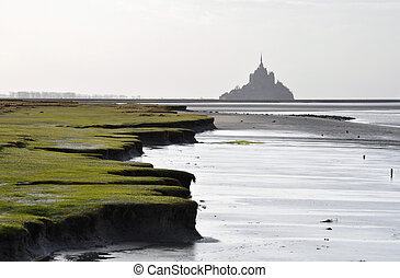 The Mont-Saint-Michel as seen from the Roche Torin