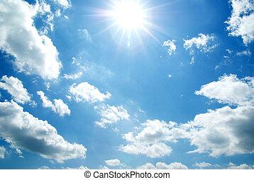 sky - clouds in the blue sky