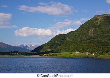 Norwegian scenery - Picturesque scenery on the norwegian...
