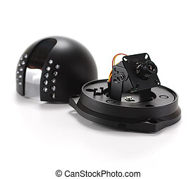 Video surveillance camera - Black isolated video...