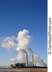 coal fired power plant - vertical image of Cholla coal fired...