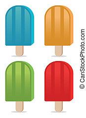 color popsicles
