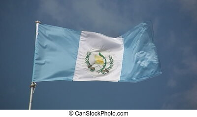 Flag of Guatemala. - Flag of Guatemala blowing in the wind.