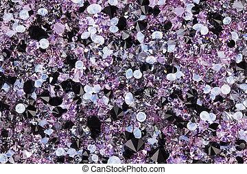 Many small diamond jewel stones, luxury background