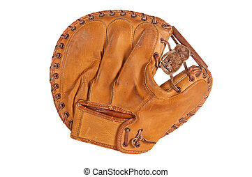 Vintage Baseball Catchers Mitt - 1960s era catchers mitt,...